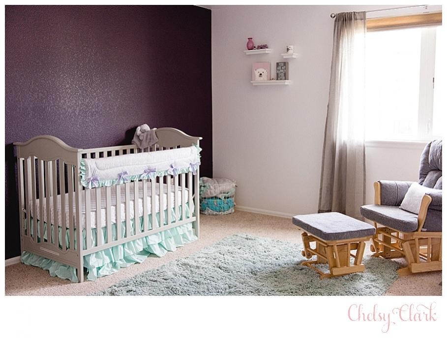 Purple Grey And Teal Nursery