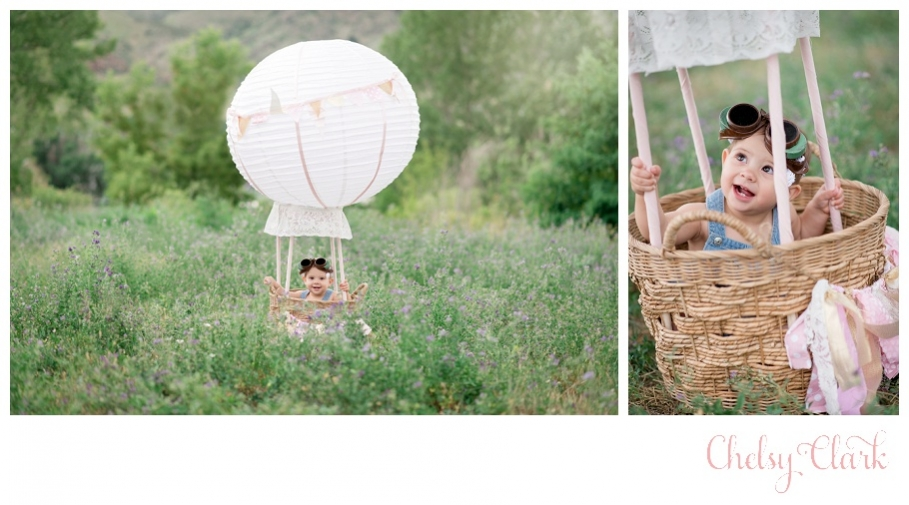 1 year photo session hot air balloon